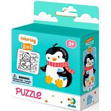 300122 Пазл 2в1 Пингвинчик